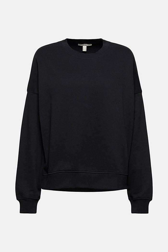 Sweat-shirt 100% coton biologique, BLACK, detail image number 5
