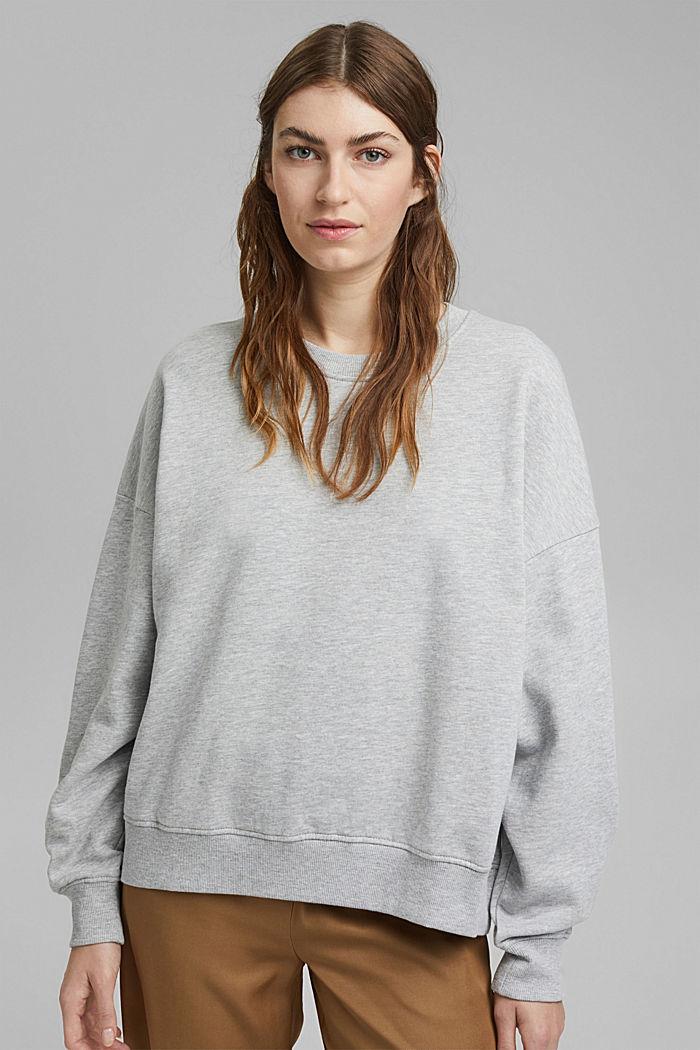 Oversized sweater van biologisch katoen, LIGHT GREY, detail image number 0