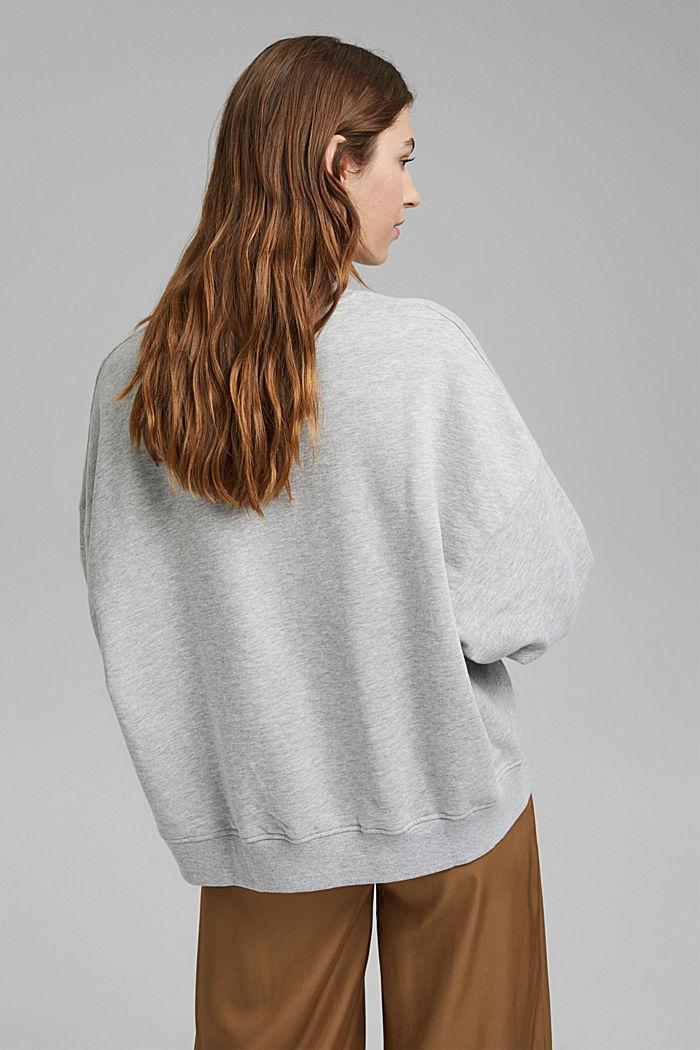 Oversized sweater van biologisch katoen, LIGHT GREY, detail image number 3
