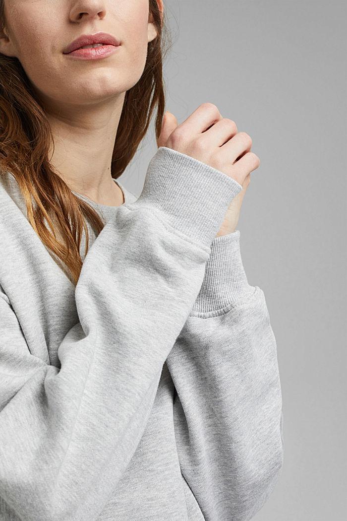 Oversized sweater van biologisch katoen, LIGHT GREY, detail image number 2