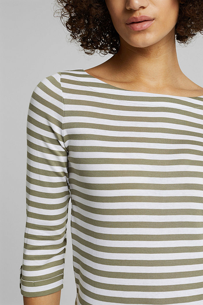 Long sleeve top made of 100% organic cotton, LIGHT KHAKI, detail image number 2