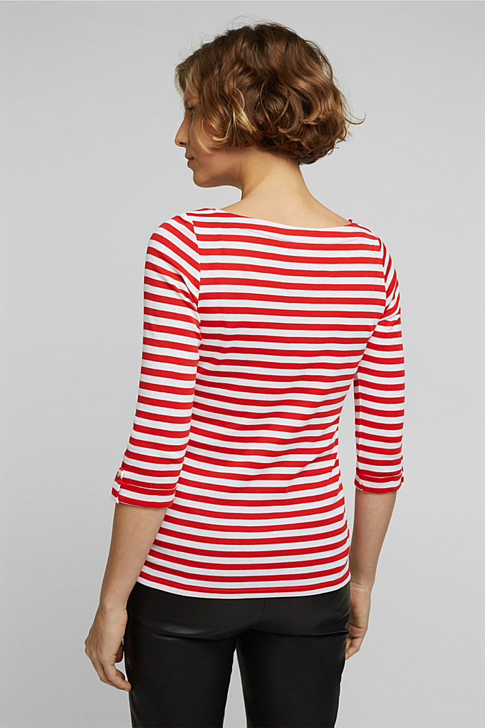 Long sleeve top made of 100% organic cotton, RED, detail image number 3