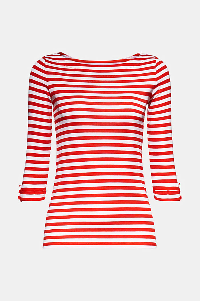 Long sleeve top made of 100% organic cotton, RED, detail image number 6