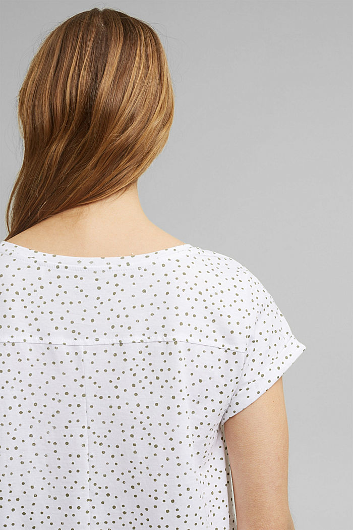 Printed T-shirt, 100% organic cotton, WHITE, detail image number 5