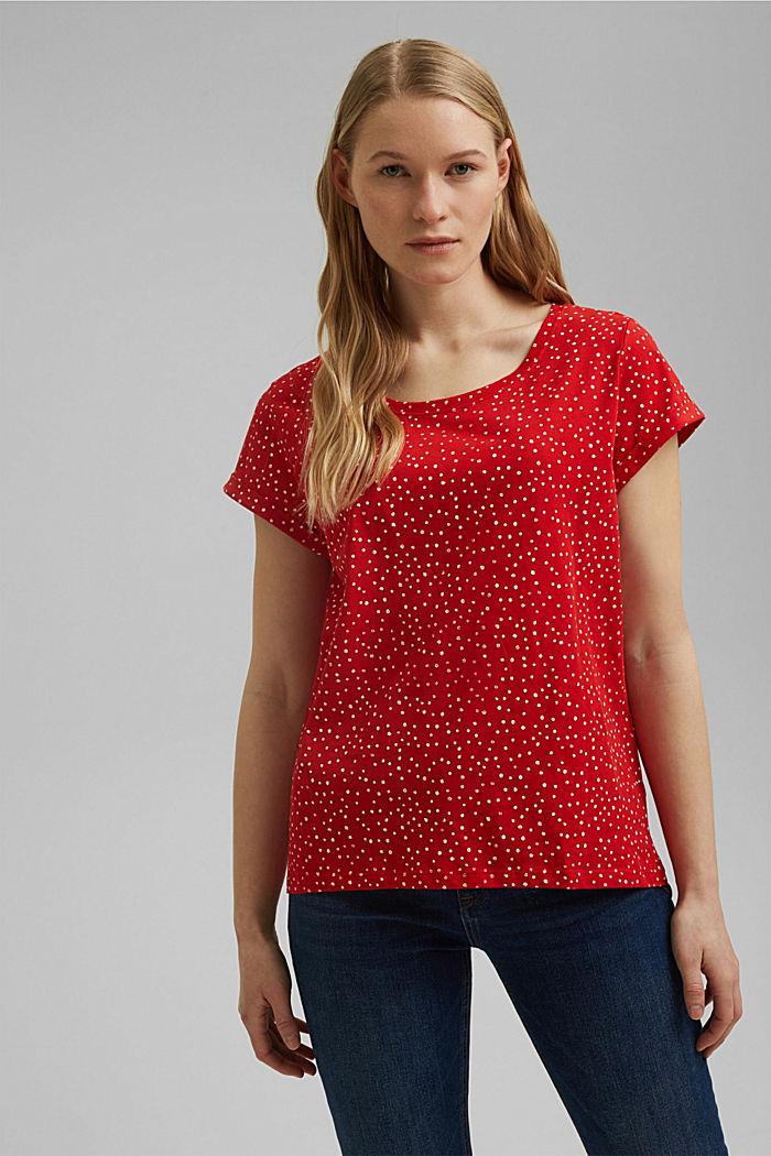 Painettu t-paita, 100 % luomupuuvillaa, RED, detail image number 0