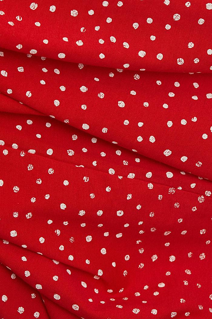 Painettu t-paita, 100 % luomupuuvillaa, RED, detail image number 4