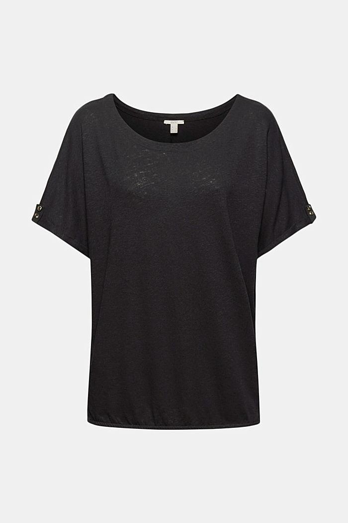 T-Shirt aus Baumwoll-Leinen-Mix