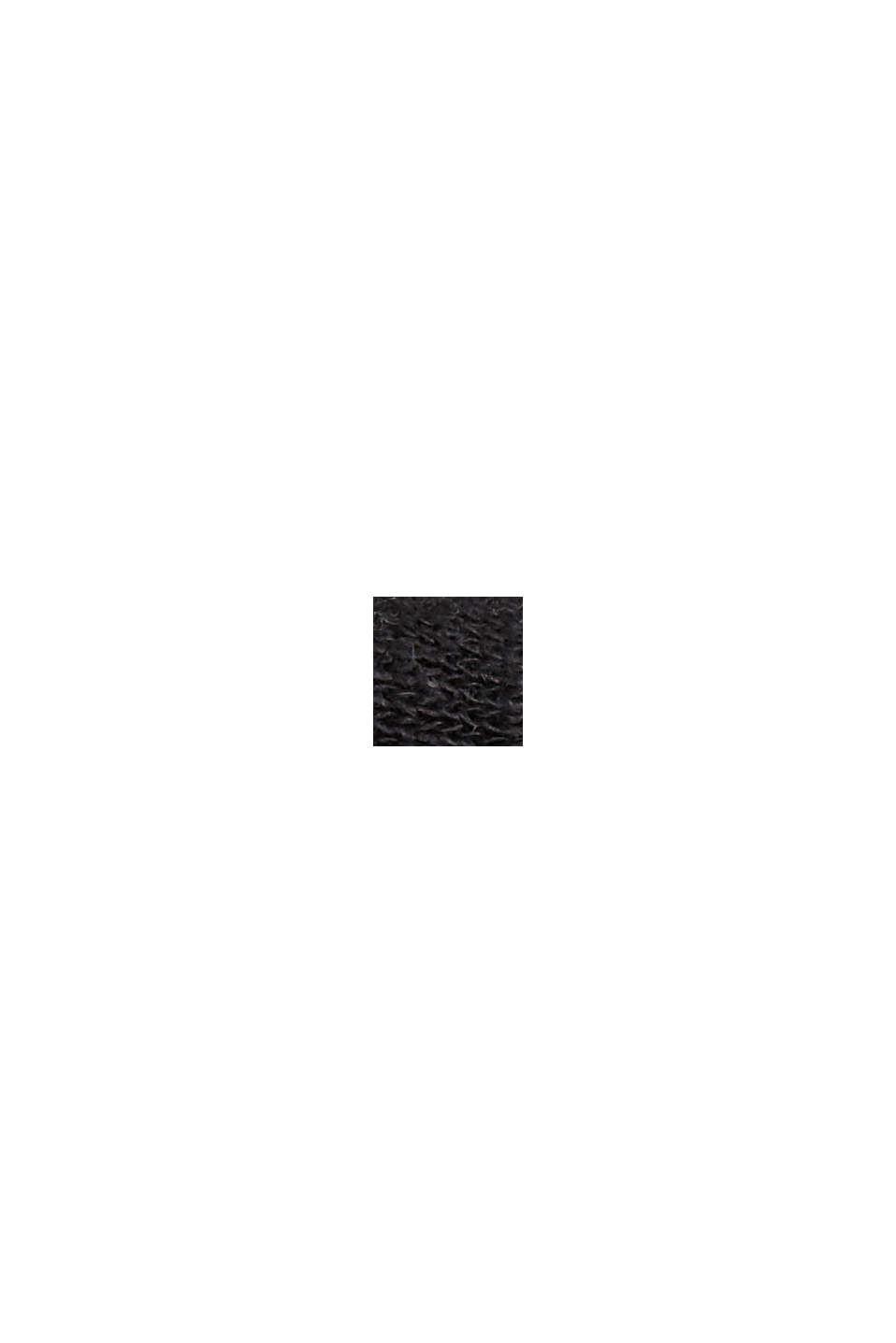 T-shirt in misto cotone e lino, BLACK, swatch