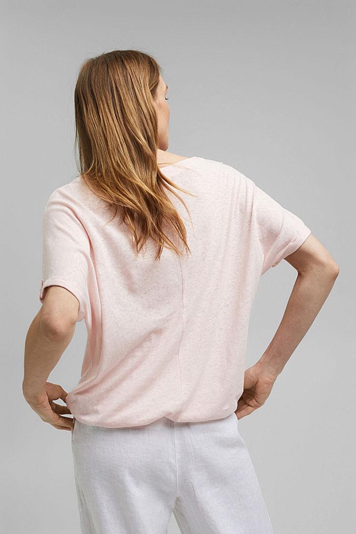 T-Shirt aus Baumwoll-Leinen-Mix, LIGHT PINK, detail image number 3