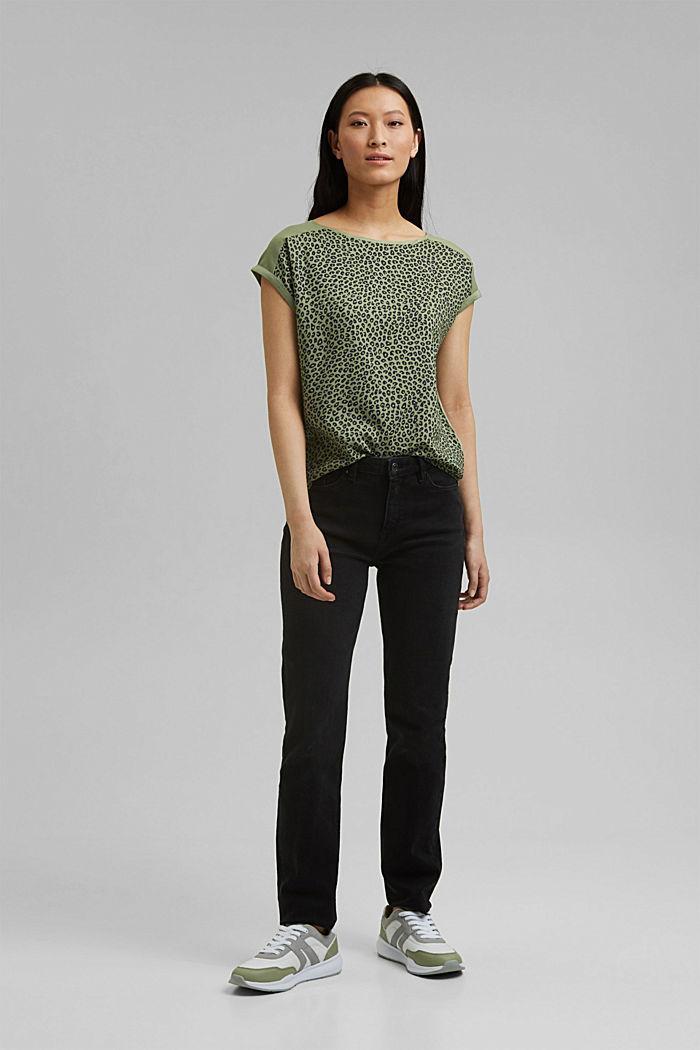 T-shirt made of LENZING™ ECOVERO™/organic cotton, LIGHT KHAKI, detail image number 1