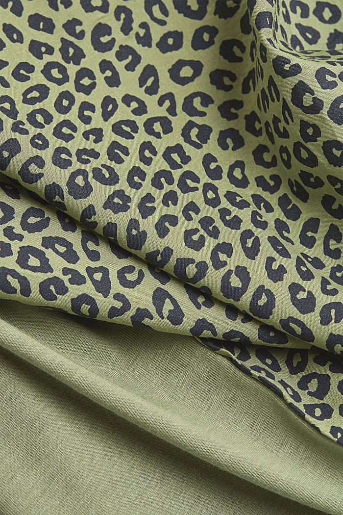 T-shirt made of LENZING™ ECOVERO™/organic cotton, LIGHT KHAKI, detail image number 4