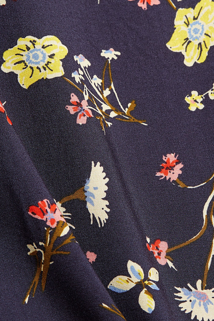 T-shirt in LENZING™ ECOVERO™ e cotone biologico, NEW NAVY, detail image number 4