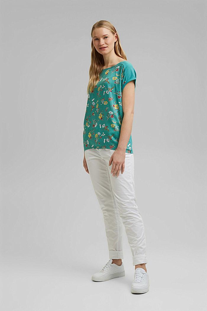 T-shirt en LENZING™ ECOVERO™/coton biologique, TURQUOISE, detail image number 1
