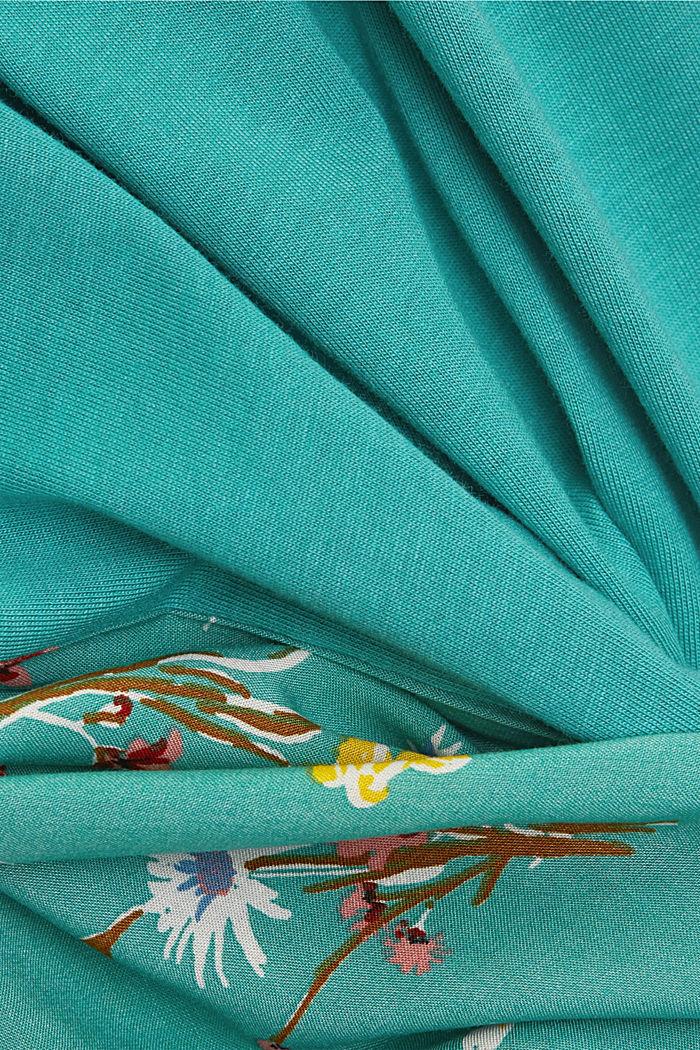 T-shirt en LENZING™ ECOVERO™/coton biologique, TURQUOISE, detail image number 4