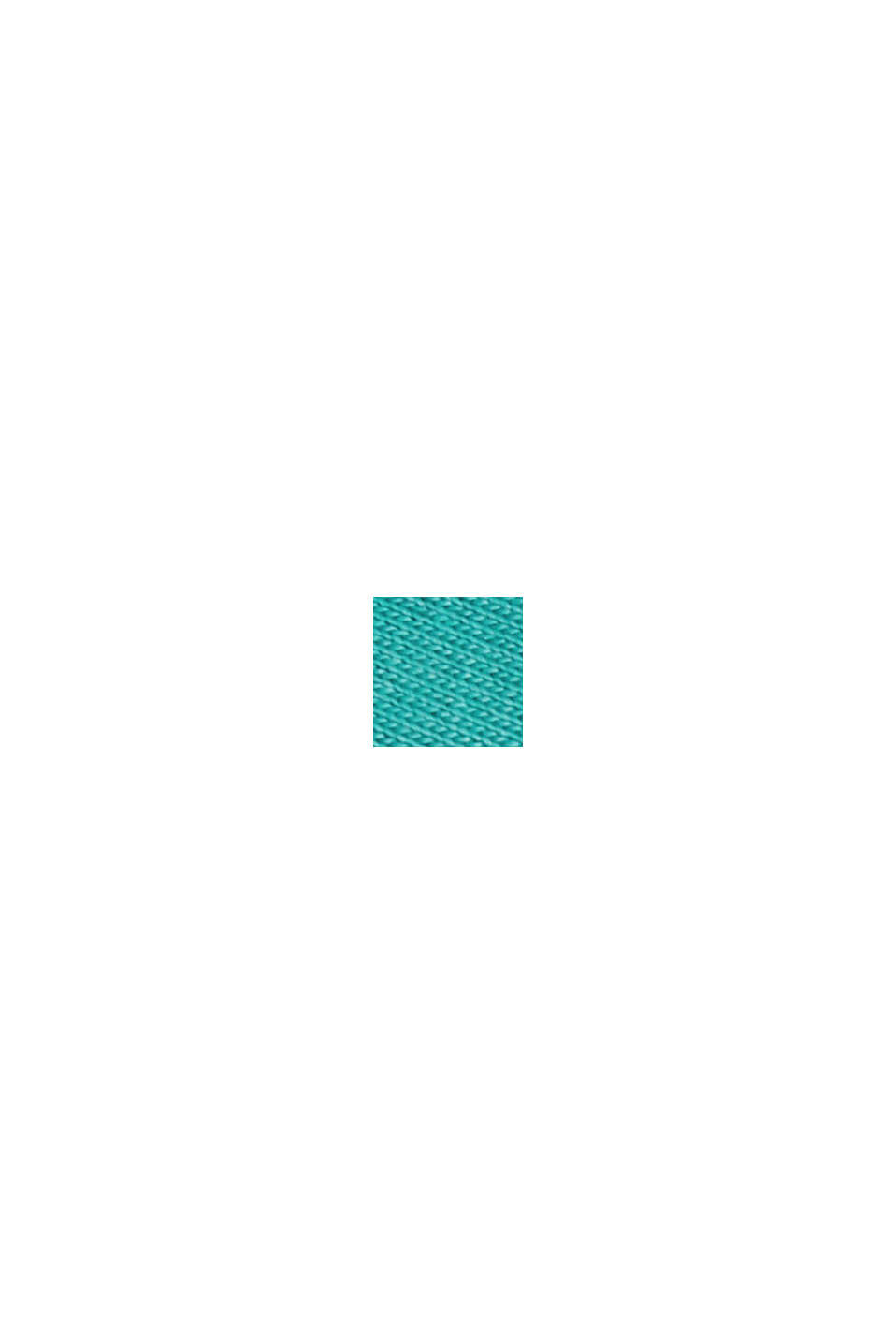 Camiseta en LENZING™ ECOVERO™/ algodón ecológico, TURQUOISE, swatch