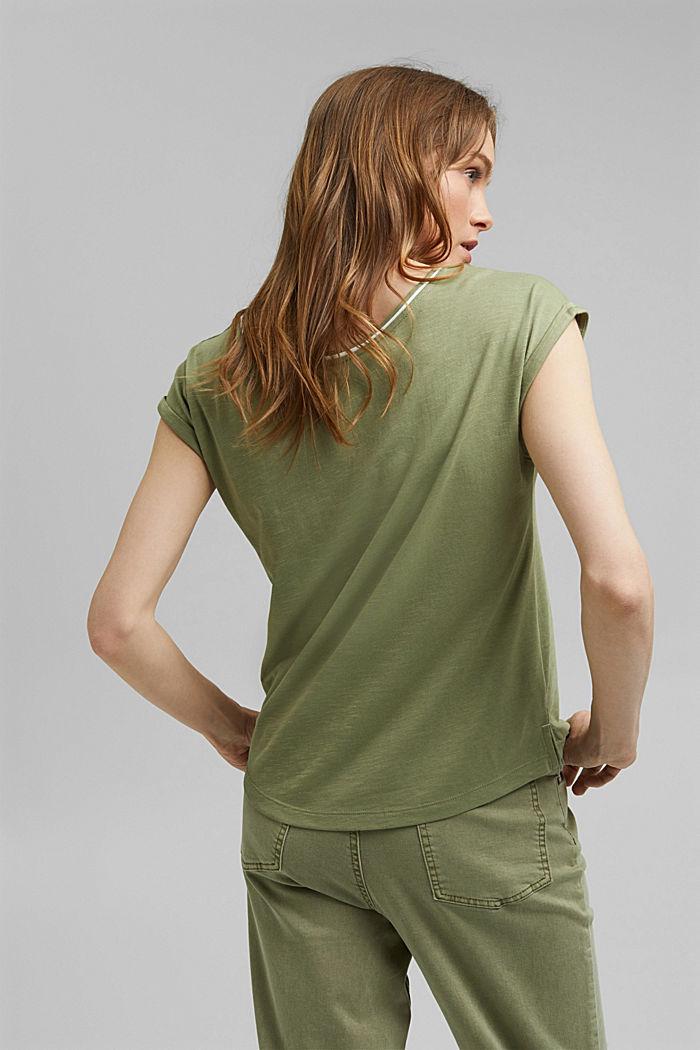 TENCEL™ et coton biologique: le t-shirt passepoilé, LIGHT KHAKI, detail image number 3