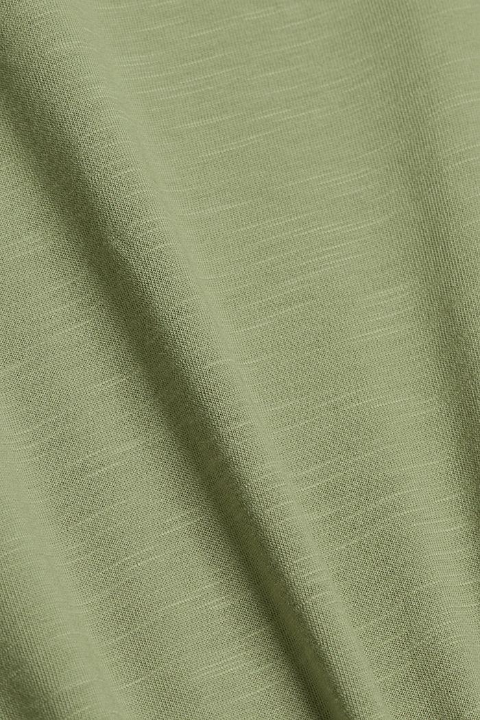 TENCEL™ et coton biologique: le t-shirt passepoilé, LIGHT KHAKI, detail image number 4