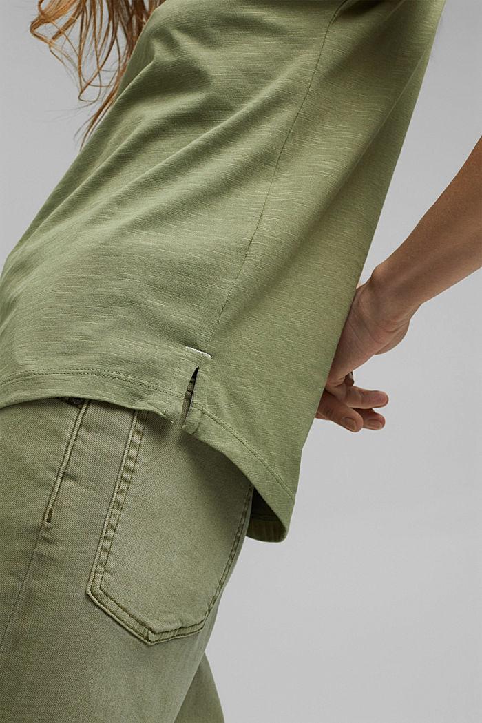 TENCEL™ et coton biologique: le t-shirt passepoilé, LIGHT KHAKI, detail image number 5