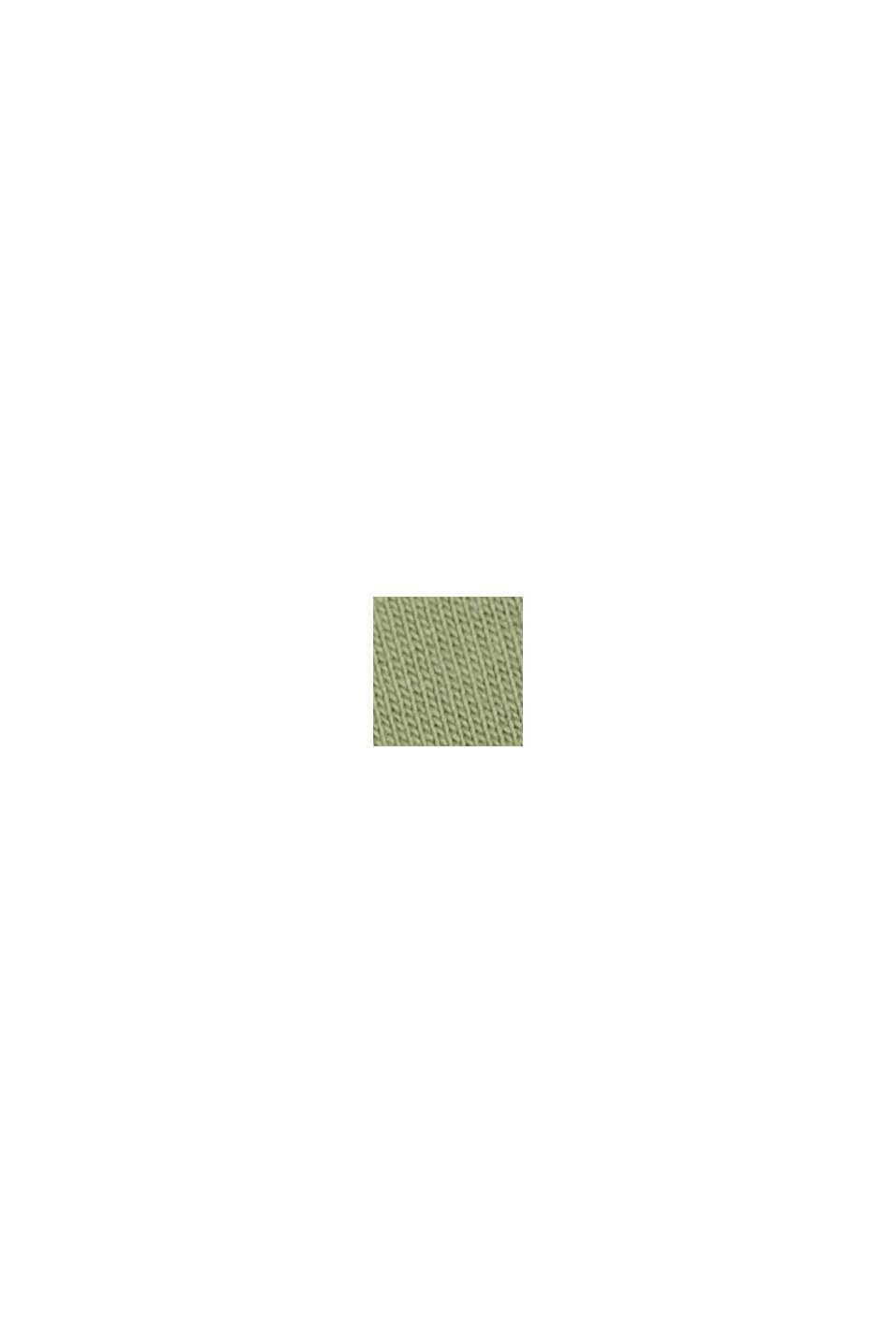 TENCEL™/Bio-Baumwolle: paspeliertes T-Shirt, LIGHT KHAKI, swatch