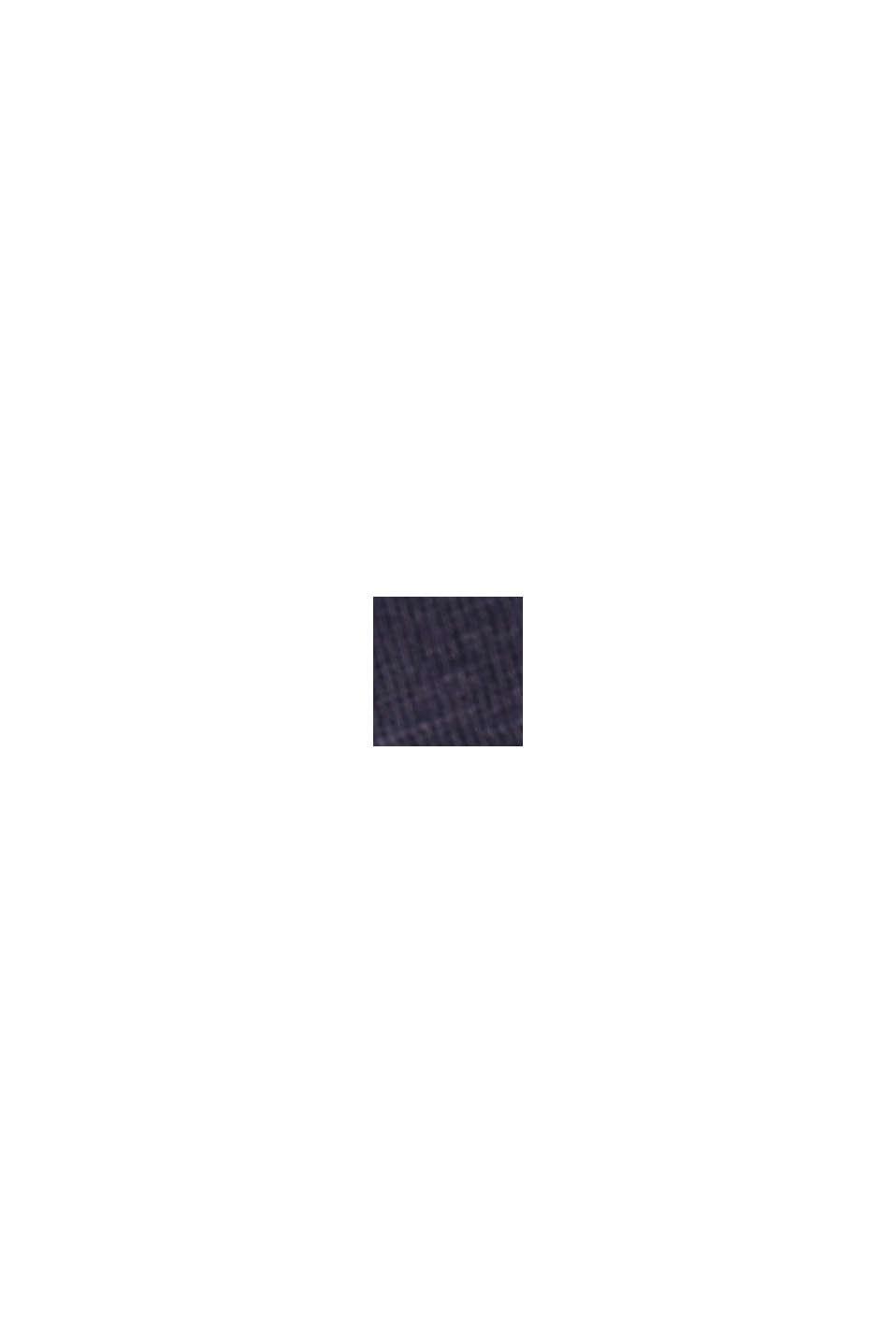 TENCEL™/biologisch katoen: afgebiesd T-shirt, NAVY, swatch