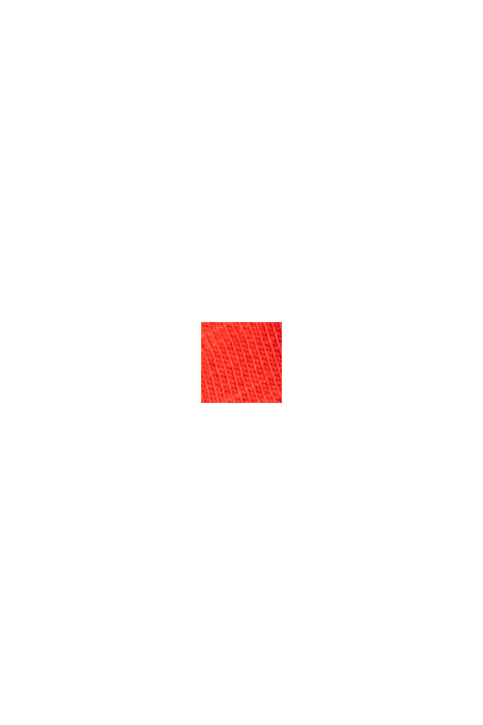 TENCEL™/Bio-Baumwolle: paspeliertes T-Shirt, RED, swatch