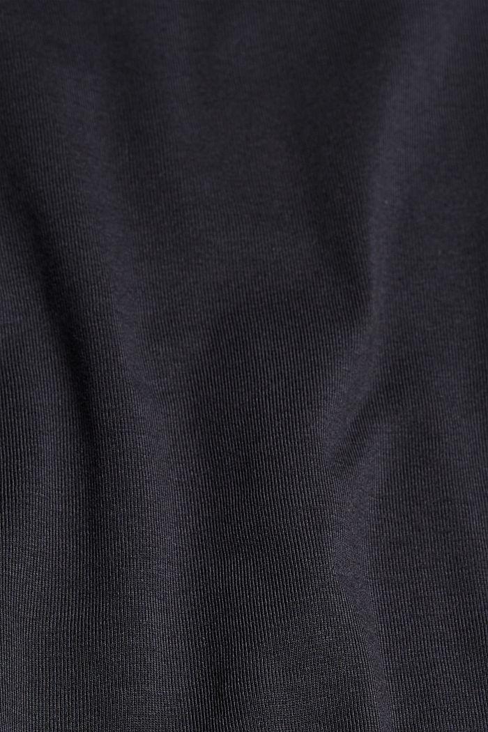 Longsleeve mit Turn-up-Ärmeln, Bio-Baumwolle, BLACK, detail image number 4