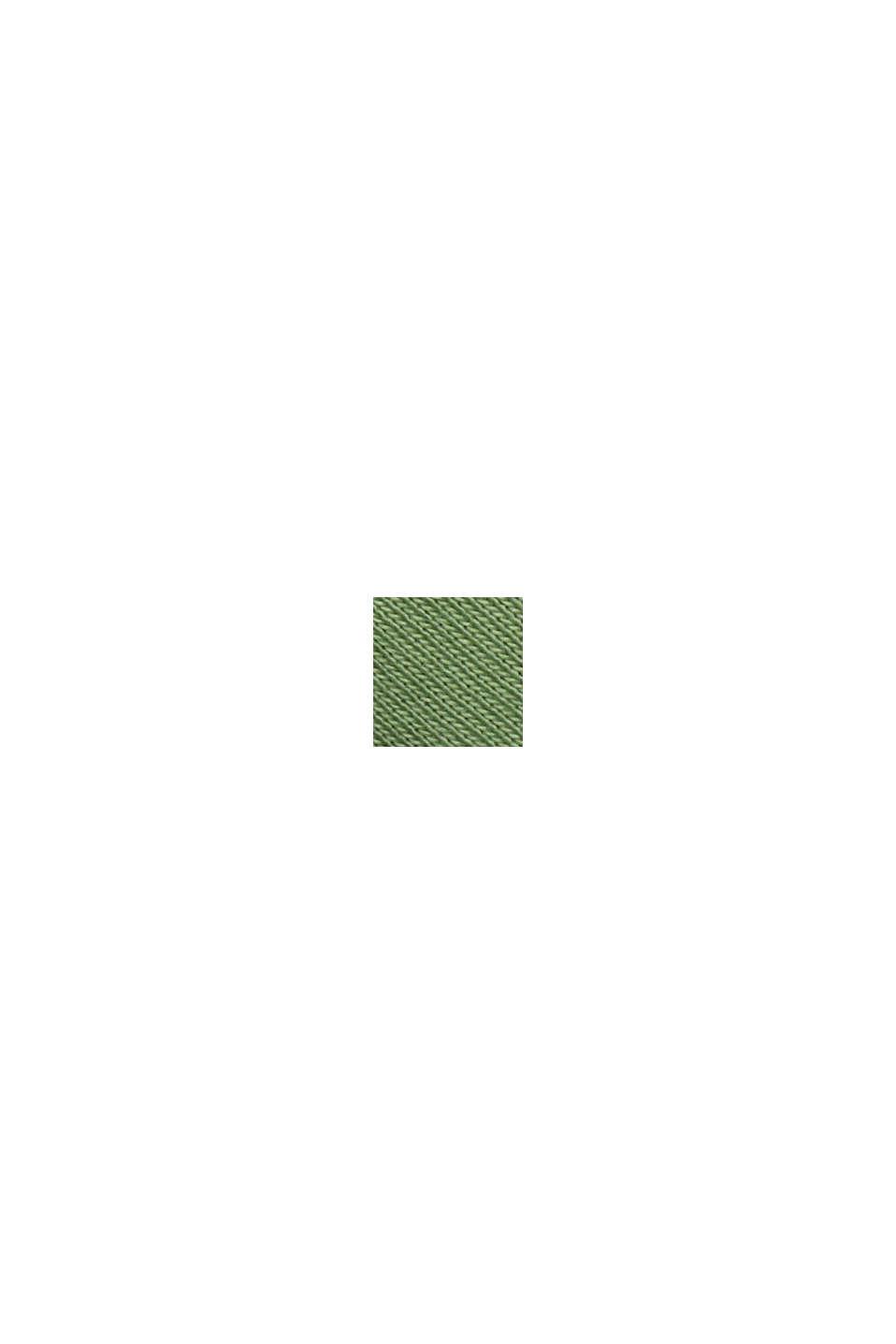 Langærmet overdel med opsmøgbare ærmer, økologisk bomuld, LEAF GREEN, swatch