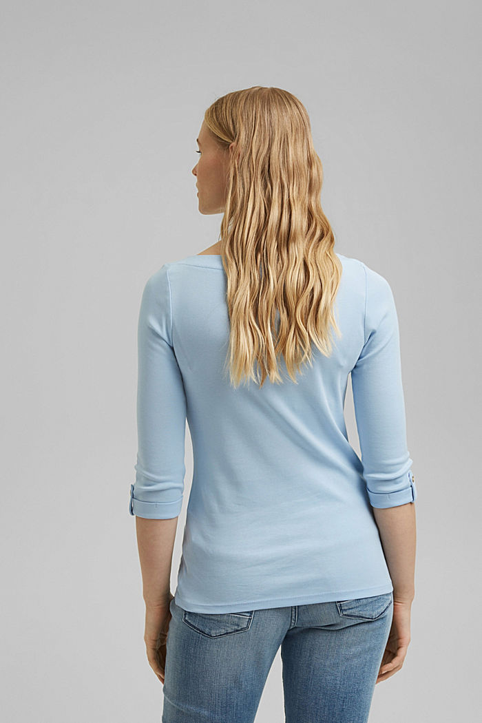 Long sleeve top made of 100% organic cotton, LIGHT BLUE, detail image number 3