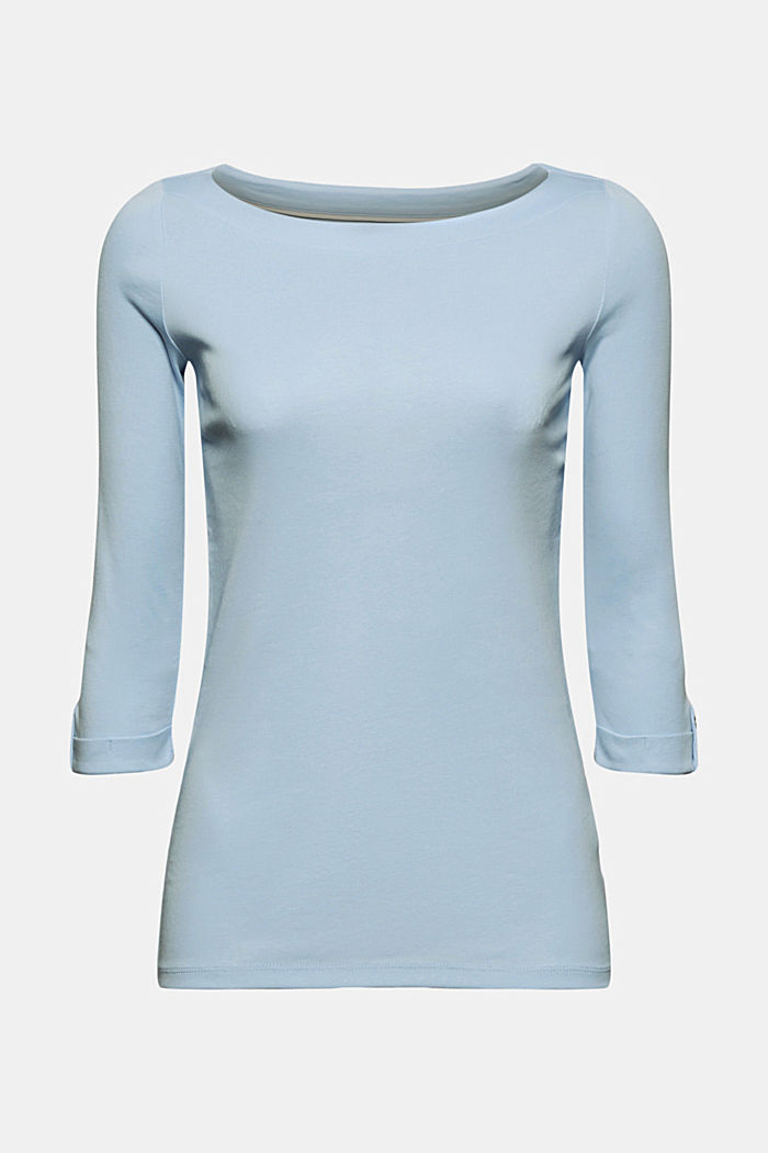 Long sleeve top made of 100% organic cotton, LIGHT BLUE, detail image number 7