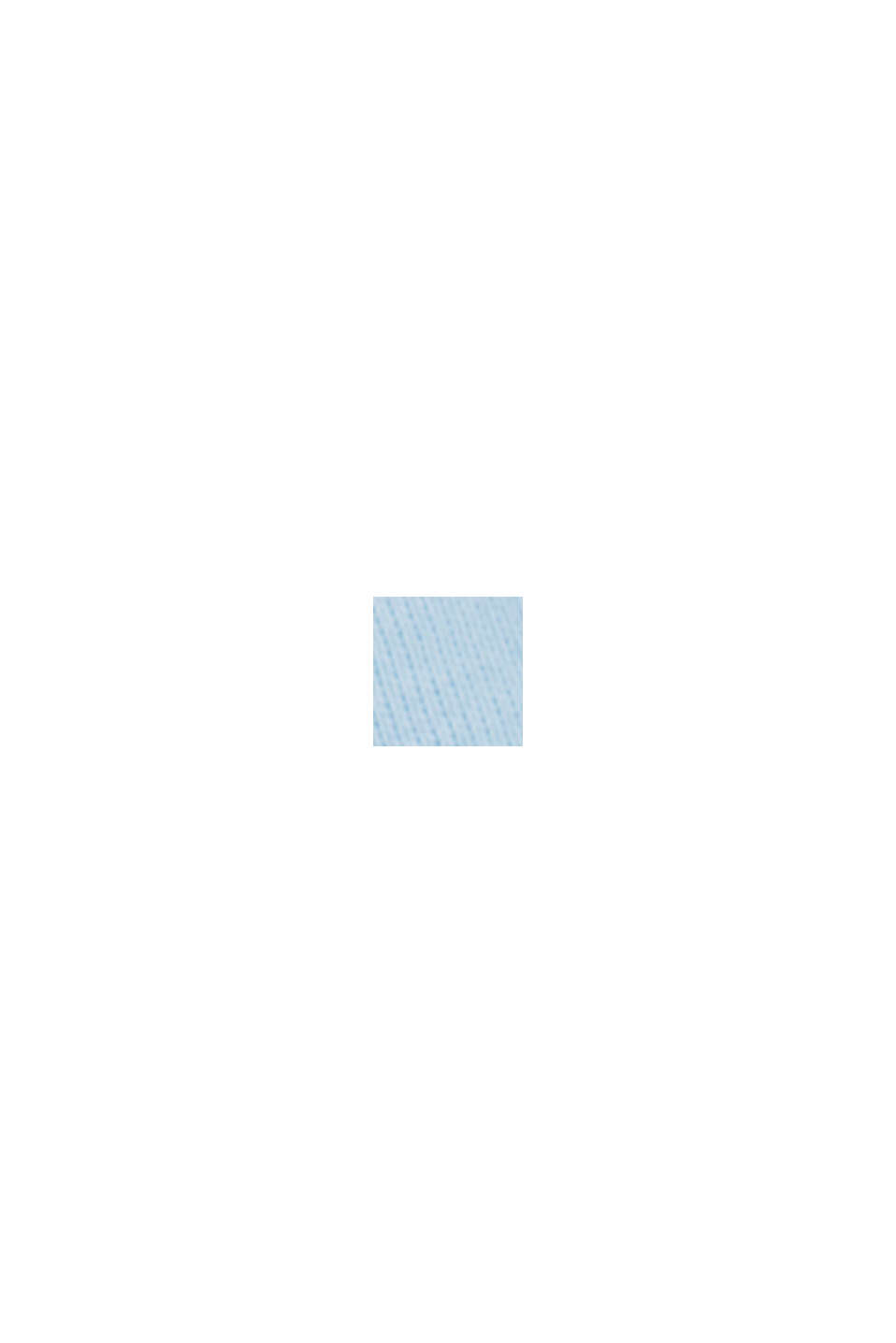 Langærmet overdel med opsmøgbare ærmer, økologisk bomuld, LIGHT BLUE, swatch