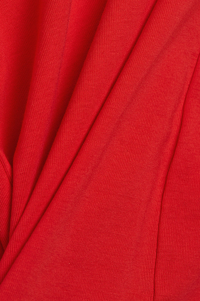 Long sleeve top made of 100% organic cotton, RED, detail image number 4