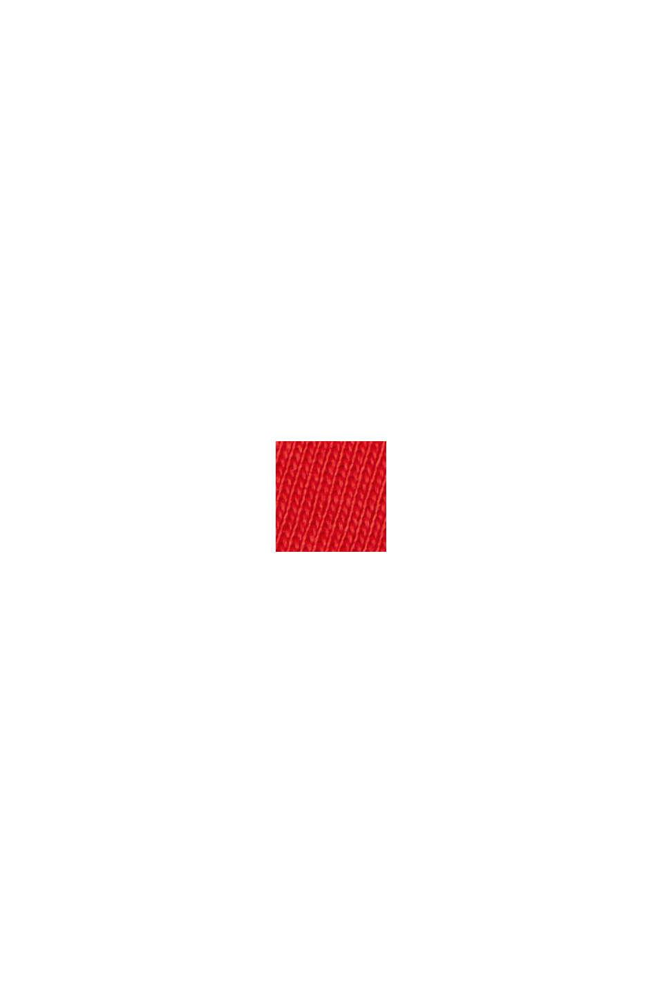 Langærmet overdel med opsmøgbare ærmer, økologisk bomuld, RED, swatch