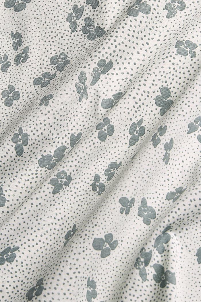 T-shirt à feuilles imprimées, 100 % bio coton, OFF WHITE, detail image number 4