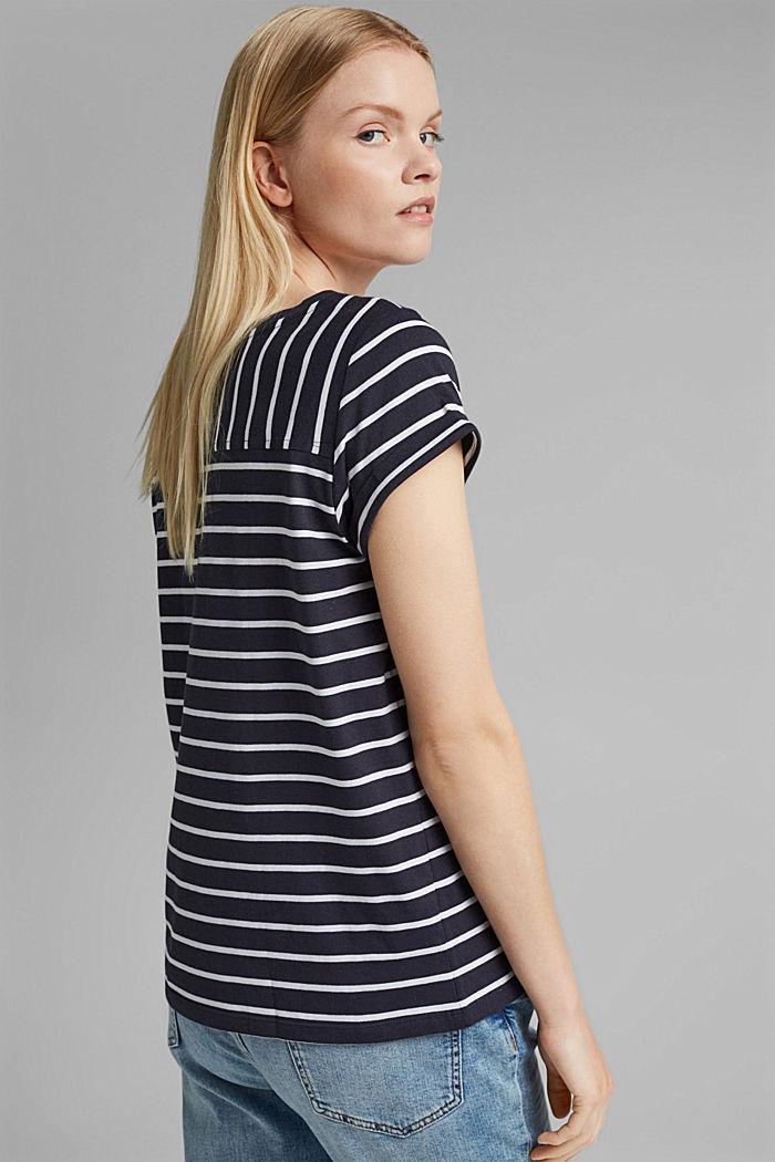 Gestreiftes T-Shirt aus Bio-Baumwolle, NAVY, detail image number 3