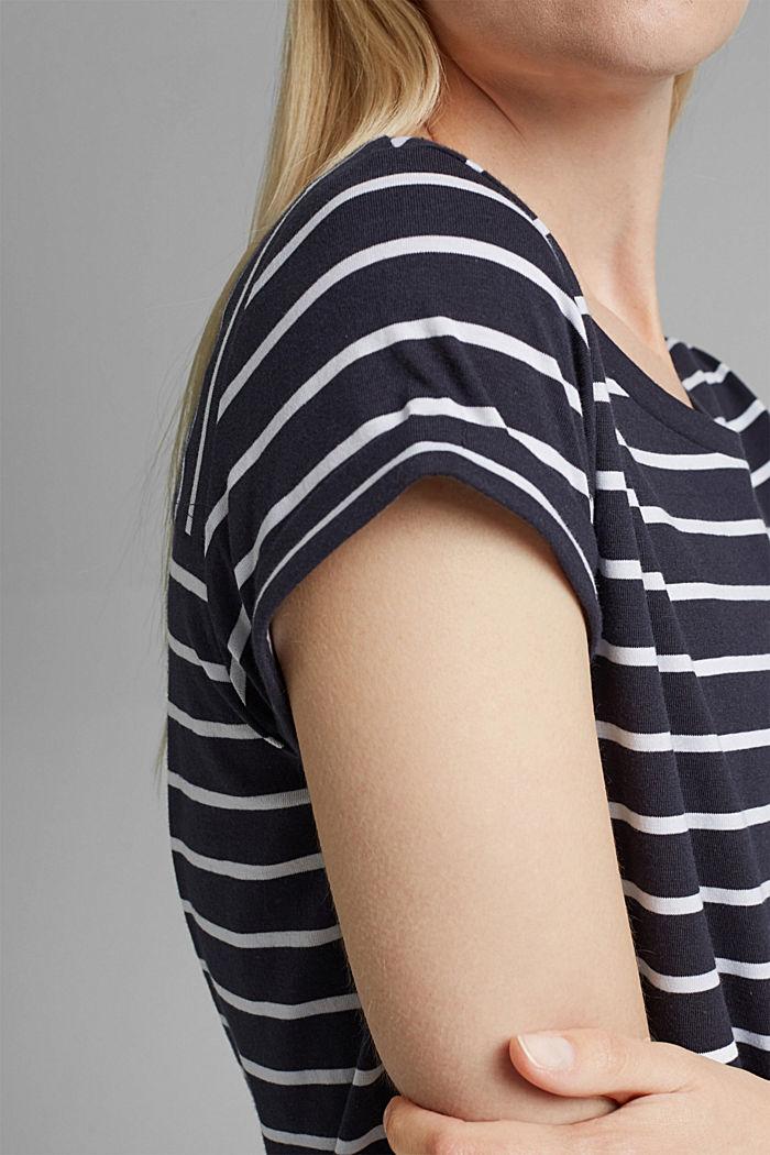 Gestreiftes T-Shirt aus Bio-Baumwolle, NAVY, detail image number 2