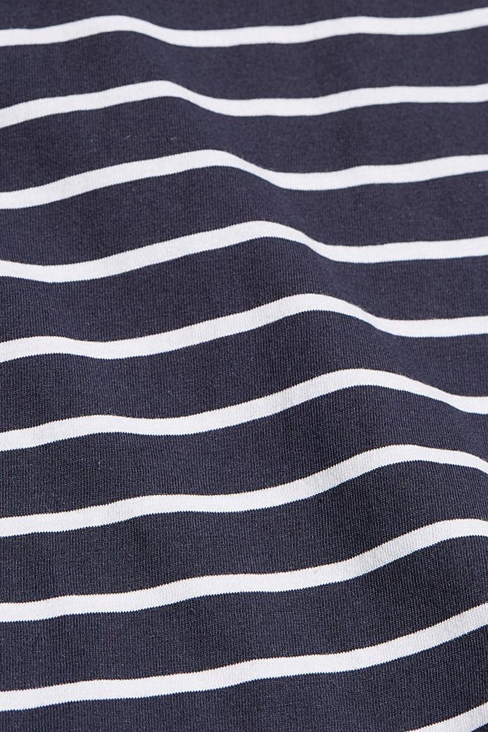 Gestreiftes T-Shirt aus Bio-Baumwolle, NAVY, detail image number 4