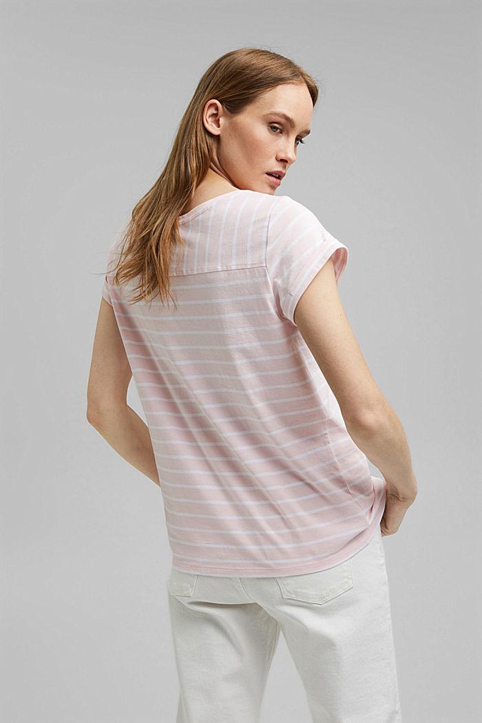 Gestreept T-shirt van biologisch katoen, LIGHT PINK, detail image number 3
