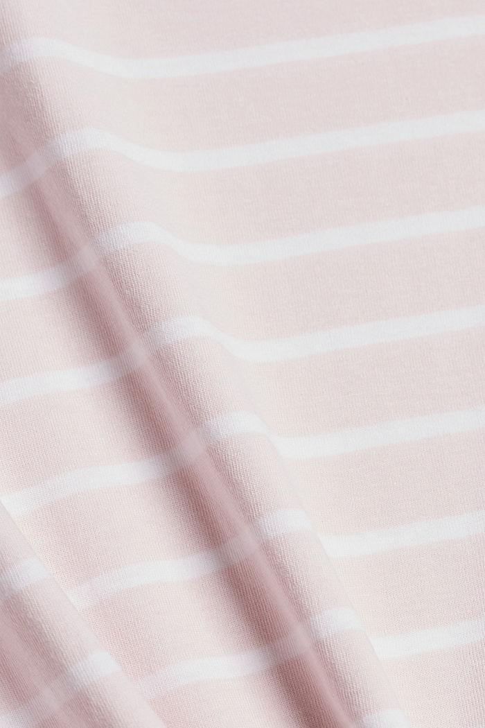 Gestreept T-shirt van biologisch katoen, LIGHT PINK, detail image number 4