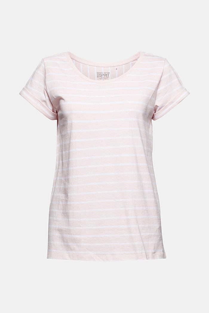 Gestreept T-shirt van biologisch katoen, LIGHT PINK, detail image number 6