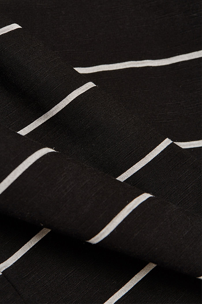 Striped top made of 100% organic cotton, BLACK, detail image number 4