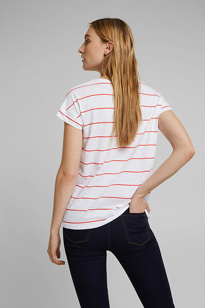 Striped top made of 100% organic cotton, WHITE, detail image number 3