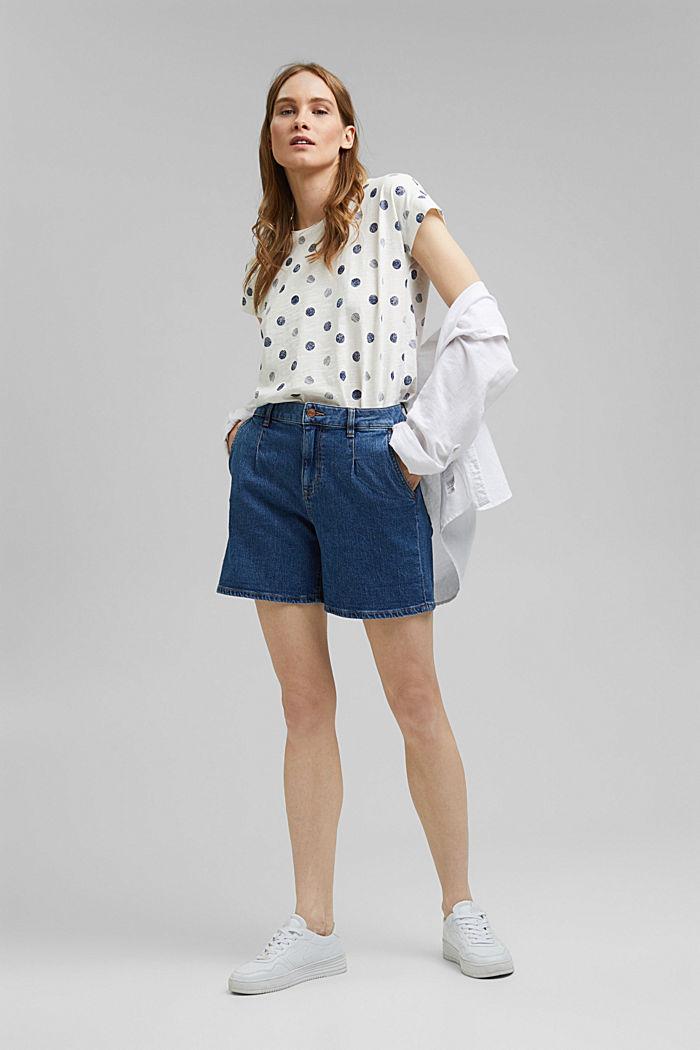 Camiseta básica en 100% algodón ecológico, OFF WHITE, detail image number 1