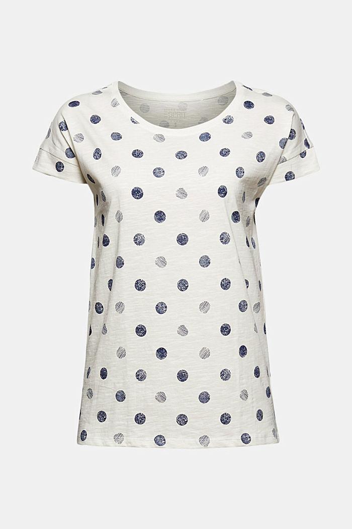 Camiseta básica en 100% algodón ecológico, OFF WHITE, detail image number 5