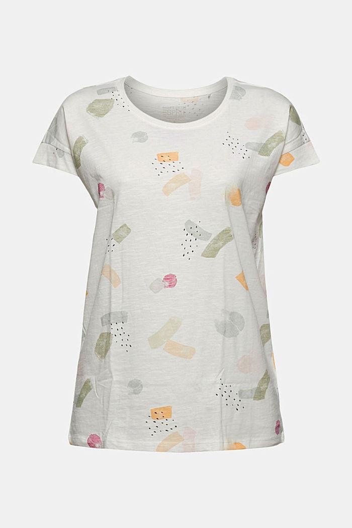 Basic T-shirt van 100% biologisch katoen, OFF WHITE COLORWAY, detail image number 6