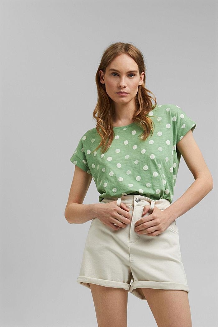 Basic T-shirt made of 100% organic cotton, LEAF GREEN, detail image number 0