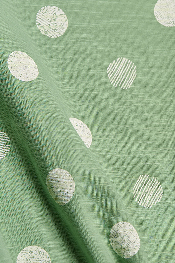Basic T-shirt made of 100% organic cotton, LEAF GREEN, detail image number 4
