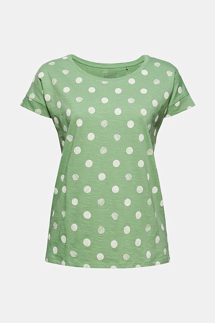 Basic T-shirt made of 100% organic cotton, LEAF GREEN, detail image number 5