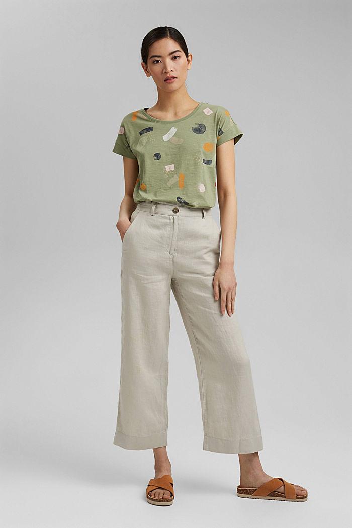 Basic T-shirt made of 100% organic cotton, LIGHT KHAKI, detail image number 1