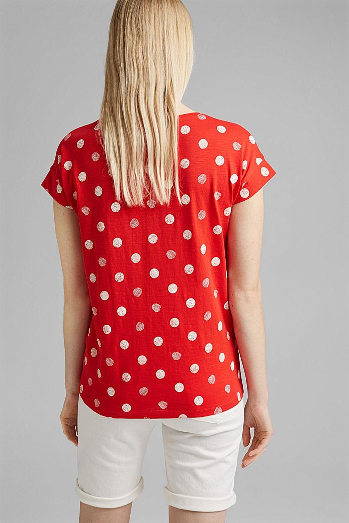 Basic T-shirt van 100% biologisch katoen, RED, detail image number 3