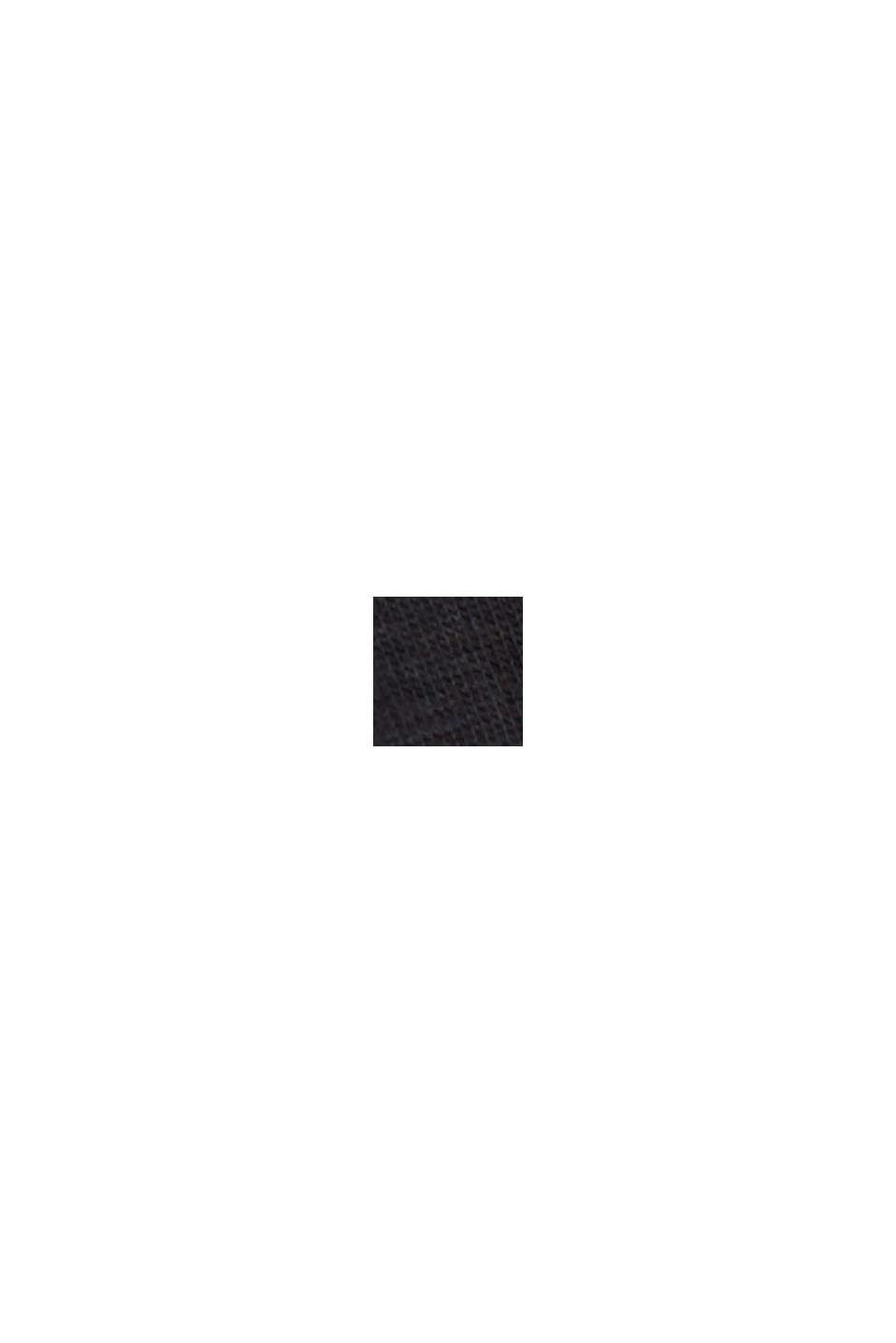 Top stretch CURVY en coton biologique, BLACK, swatch